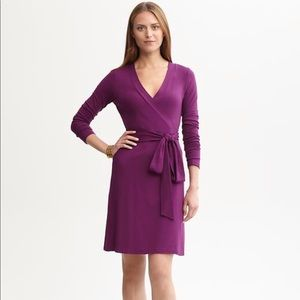 Banana Republic Raspberry Gemma Wrap Dress